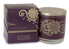 Illume Simply Fall Collection Blackberry Sage Boxed Glass Candle